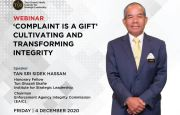WEBINAR : 'COMPLAINT IS A GIFT' CULTIVATING AND TRANSFORMING INTEGRITY'